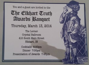 Invitation to the 2014 Elkhart Truth Awards Banquet