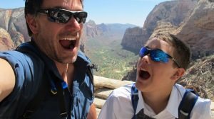 Selfie on Angel's Landing! Woohoo!